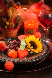 Fall deco plate